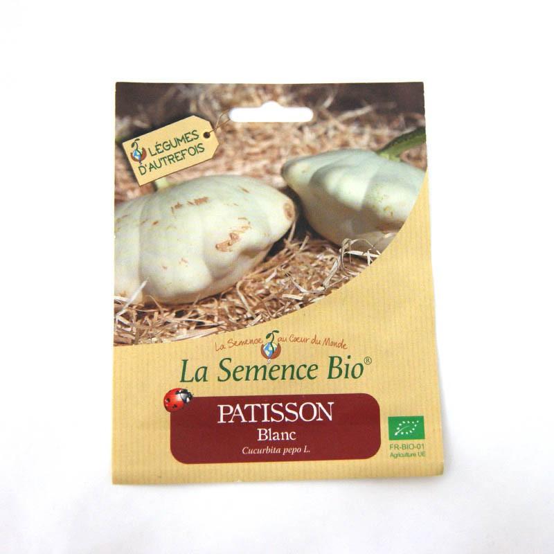 Graine Bio Pâtisson Blanc Sachet Semence Agriculture Biologique AB COURGE