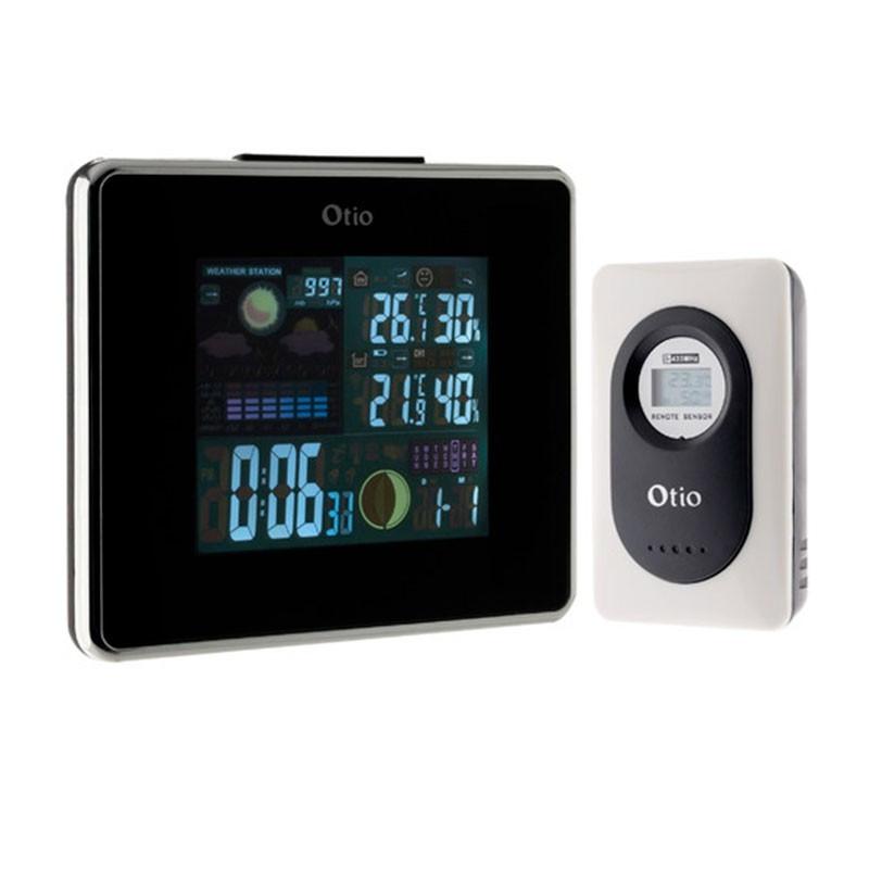 Centrale météo avec LCD couleur et capteurs extérieurs sans fil 30m - Otio