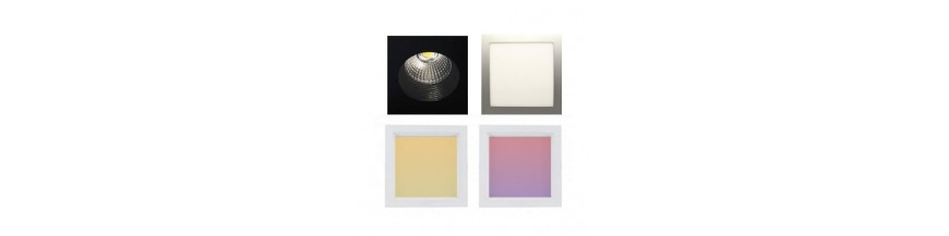 Led downlight carré